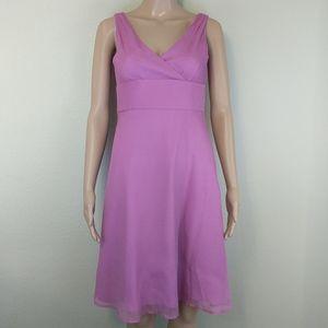 [J. Crew] Pure silk fuchsia dress 2P